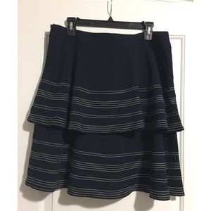 Banana Republic Skirts - NWOT Navy Blue and White Tiered Skirt
